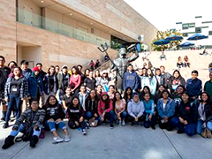Youth participants from the Para Los Niños Central and East LA YouthSource Centers recently visited UC San Diego