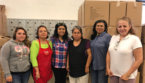 (L to R) Punch Studio Assistant Manager Esmeralda Soto with , Margarita Santos, Jocelyn Rodriguez (career coach), Eloisa Madueno, Jazmina Chavarria, and Sandra Flores