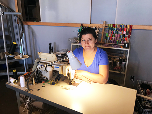 The Hollywood BusinessSource Center helped seamstress Oksana Putyatina obtain a $3,000 loan to expand her unique clothing business, RadSeams