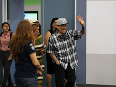 Actor Danny Trejo speaks to YouthSource participants at the inaugural YouthSource Center 'A Conversation With...' series