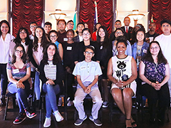 EWDD BusinessSource Director Richard Pallay (back row, third from right) shared tips on how to launch a business in LA with young entrepreneurs