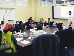 Approximately 23 day laborer recently completed U.S. EPA lead-safe certification training