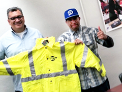 The Vernon-Central/LATTC WorkSource Center helped Re-entry worker Oscar Aviles find a job as a parking attendant