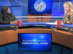LA Channel 35 news magazine LA Currents interviews EWDD GM Carolyn Hull on December 1, 2020