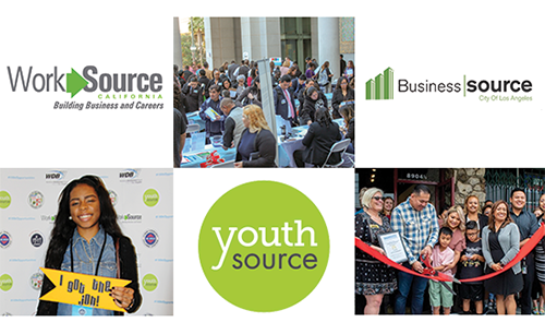 EWDD Service logos: YouthSource, WorkSource and BusinessSource