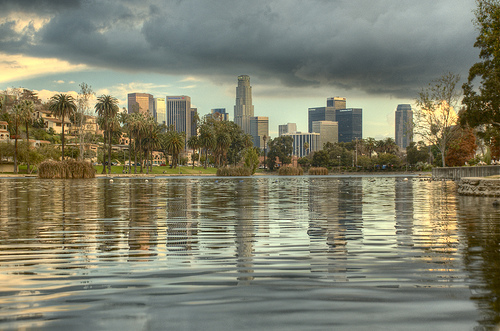 Downtown Skyline from Echo Park. Photo Credit: By Wes Tennyson available under Creative Commons Attribution-Noncommercial-Share Alike license