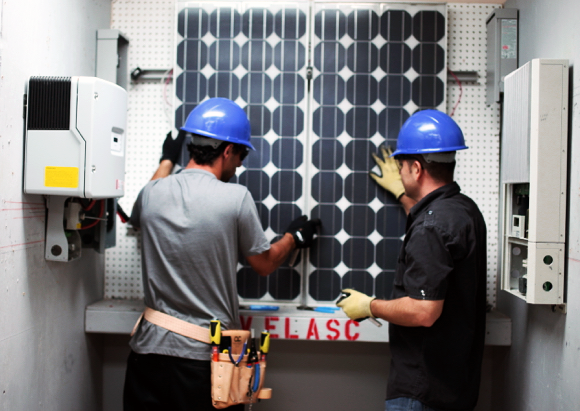 Solar Panel Installation Training at LAUSD Adult and Career Education Division