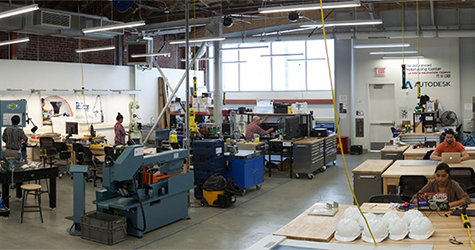 the Advanced Prototyping Center located in the La Kretz Innovation Campus, part of Los Angeles Cleantech Incubator (LACI)