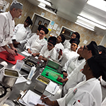 LAHTA Chef Mitchell Frieder (left) teaches a Culinary Apprenticeship Training class